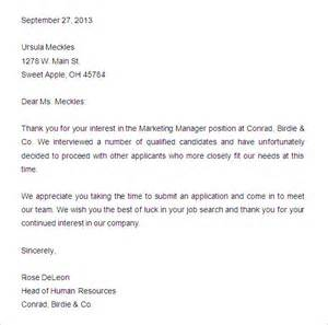 Rejection Letter Template For Applicants by Best Rejection Letter For Applicants Reportz767 Web Fc2