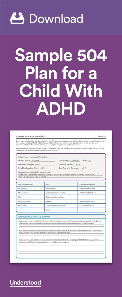 343 Best Images About Adhd Intention Deficit Disorder On Pinterest Learning Disabilities Adhd 504 Plan Template Adhd