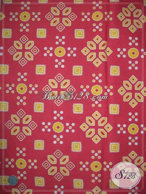Kain Jumputan Dan Batik Printing jual bahan batik motif jumputan warna merah trendy dan