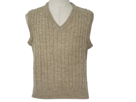 mens cable knit sweater vest 1980 s vintage mervin sweater 80s mervin mens