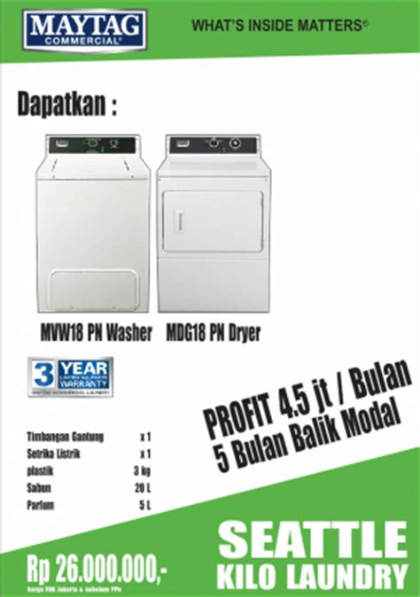 Paket Usaha Kilo Laundry Maytag Dallas paket seattle kilo laundry laundry mart indonesia