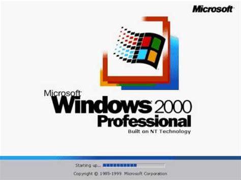 microsoft windows 2000 startup sound youtube