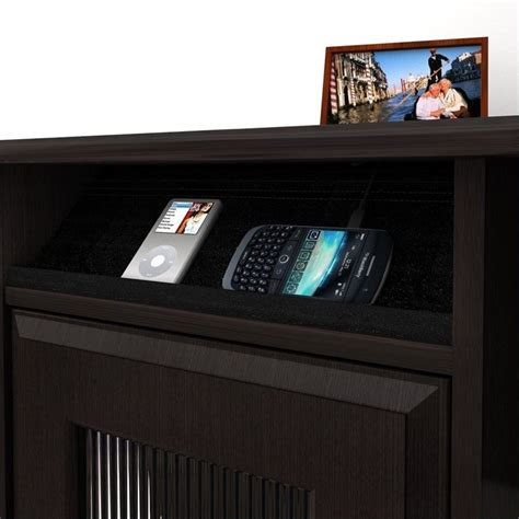 Espresso Computer Desk With Hutch Bush Cabot L Shaped Computer Desk With Hutch In Espresso Oak Wc31830 03k Pkg1