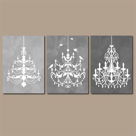 gray wall decor chandelier wall art canvas or prints gray from trm design