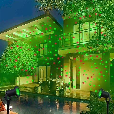 outdoor waterproof elf christmas lights green red laser