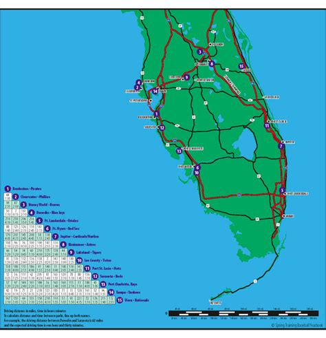 baseball in souther florida map florida