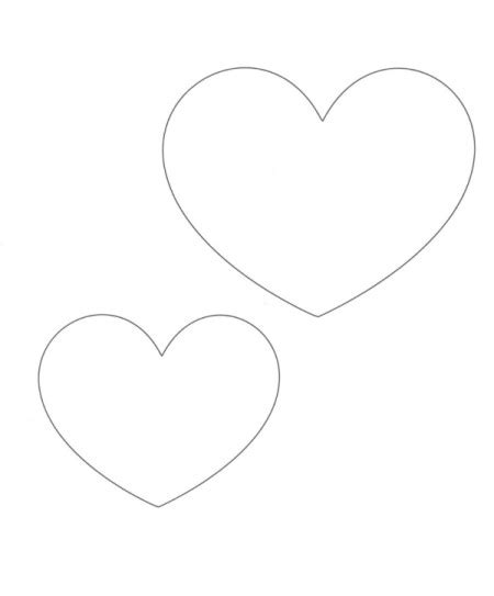 best photos of printable heart cut out template