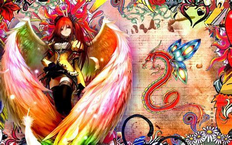 anime dragon girl wallpaper wallpaper dragon girl wings angel aquarian age desktop