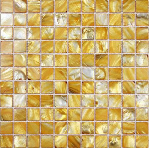 seashell tile backsplash shell tiles 100 yellow seashell mosaic of pearl
