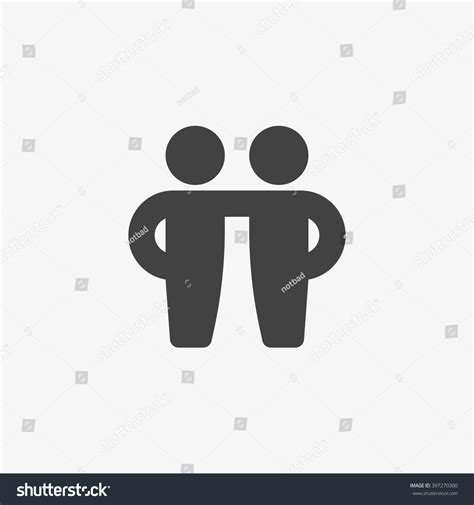 design you icon friends icon trendy flat style isolated stock vector