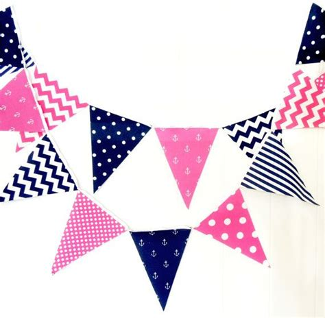 Banner Flag Baju Biru Pink Bunting Flag 32 best anchor cookies images on nautical anchor and birthdays