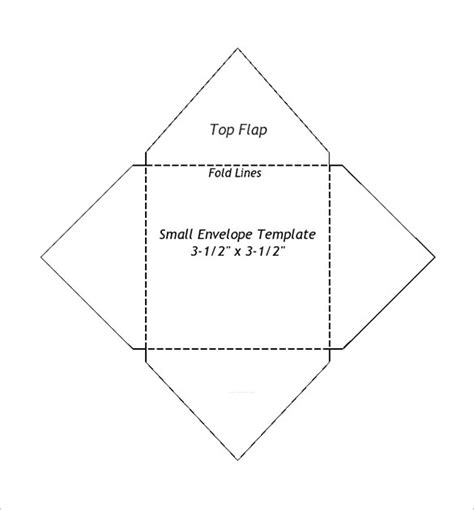Printable Small Envelope Template | small envelope templates 9 free printable word pdf