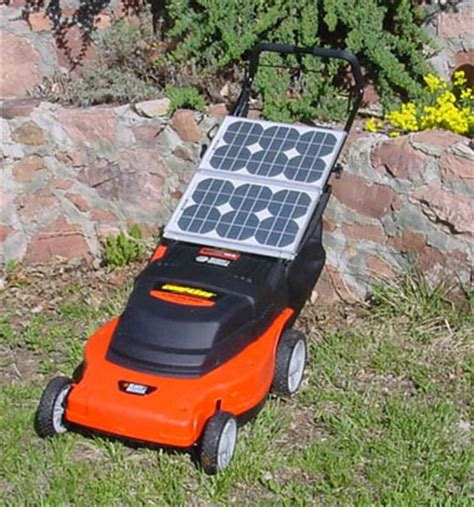 lawn care gadgets sunwhisper solar lawn mower save money and reduce