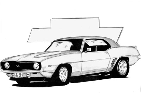 Black And White Art Dragon Moon Creations 69 Camaro Coloring Pages