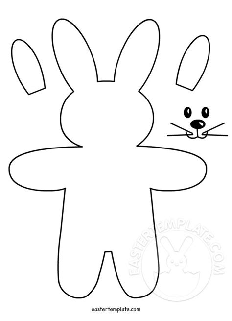 free bunny pattern template pattern felt bunny ornament easter template