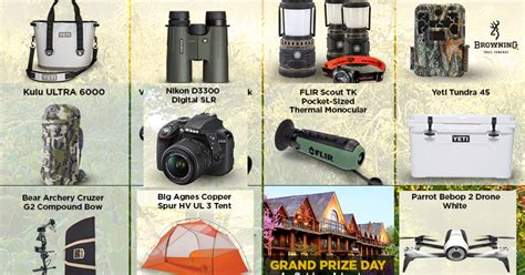Outdoor Channel Giveaway - outdoor channel gear up go giveaway 31 winners win outdoor related prizes tents