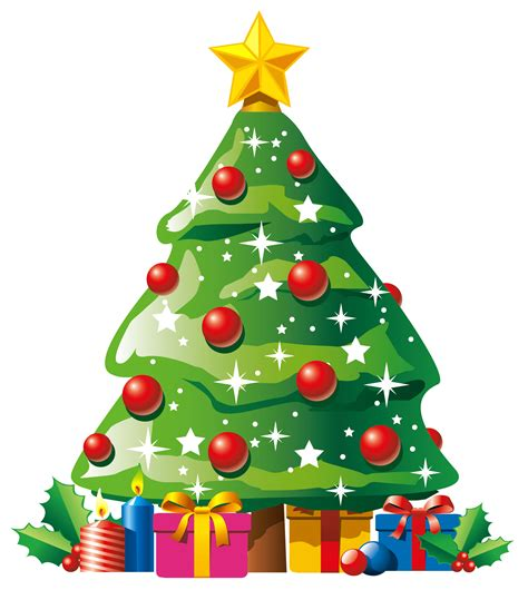 christmas tree with presents clip art clipart best