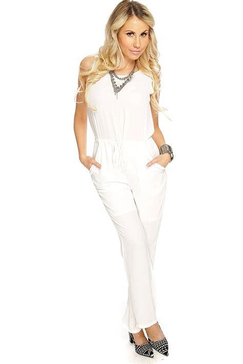 Dressy White white sleeveless dressy jumpsuit