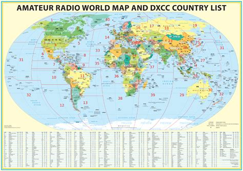february 2012 free printable maps radioamateur carte dxcc