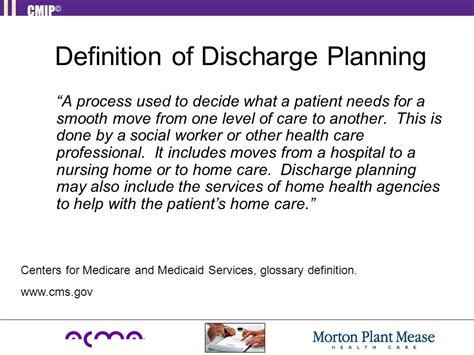 discharge planning from hospital to home providing the right care at the right time in the right