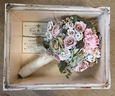 Wedding Bouquet In Shadow Box by Floral Preservation For Wedding Bouquets In Shadow Box Local