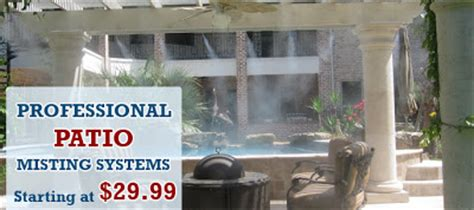 Best Patio Misting System by How To Select The Best Outdoor Misting Systems Mist