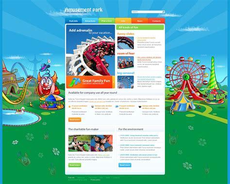park template amusement park website template 25455