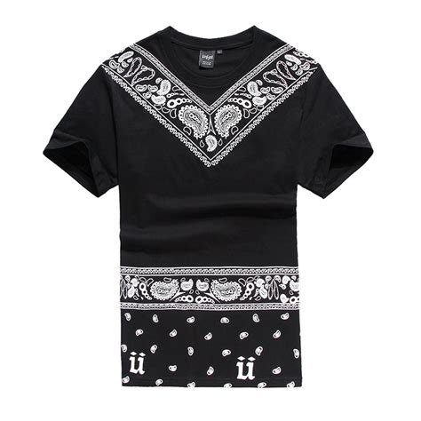 T Shirt Swag summer style anime hip hop hiphop swag bandana shirt
