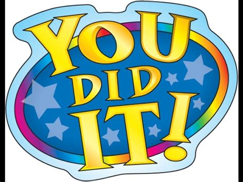 did you clipart yay you did it