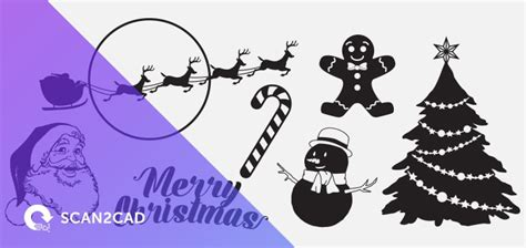 christmas dxf free free dxf files free downloads scan2cad