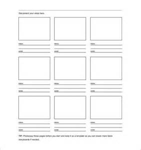 free storyboard templates for word storyboard template 8 free word excel pdf ppt