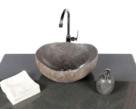 stein waschbecken bad waschbecken stein naturkante 45 cm bei wohnfreuden kaufen