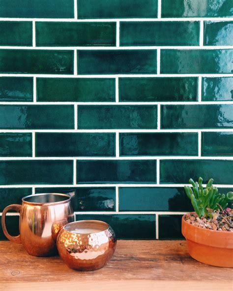 Green Tile Backsplash Kitchen home tour brooklyn brownstone bluegrass tile