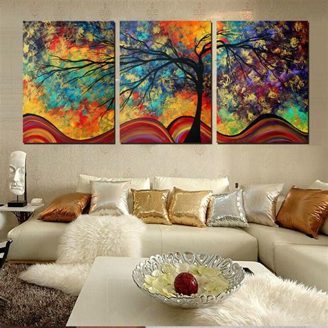 paintings for home decor large wall home decor abstract tree painting colorful