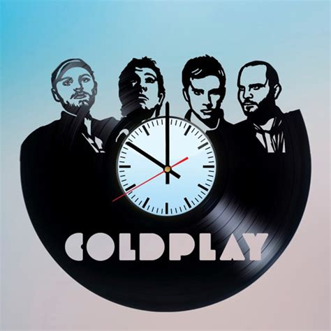 Design Your Own Wall Sticker coldplay handmade vinyl record wall clock fan gift vinyl