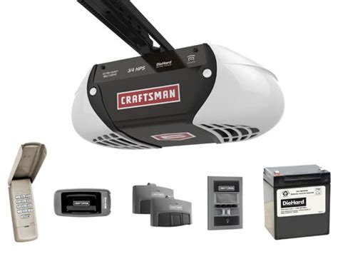 Craftsman Garage Door Assurelink by Craftsman Assurelink 3 4 Horsepower Chain Drive Garage
