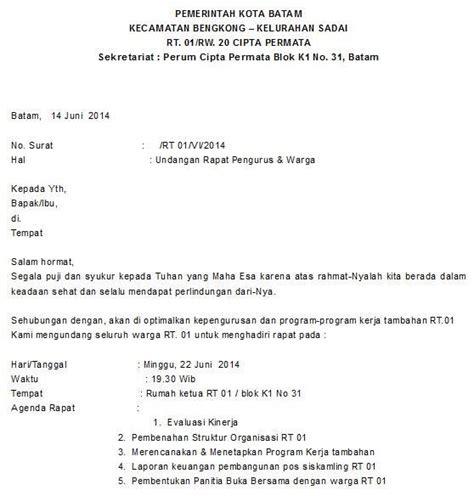 Surat Resmi Undangan by 37 Contoh Surat Undangan Osis Perusahaan Sekolah Rt