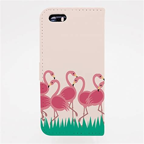 pink flamingo pu leather flip wallet for iphone 6 6s