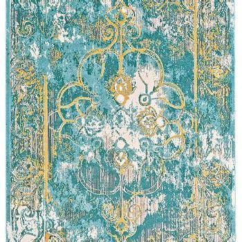 blend rug  teal design  bd fine