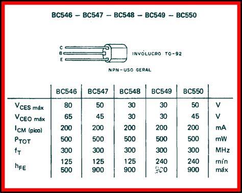 transistor bc547 equivalencias tabela transistor bc548 28 images 6 alternativas de como controlar motores a ponte h 20 x