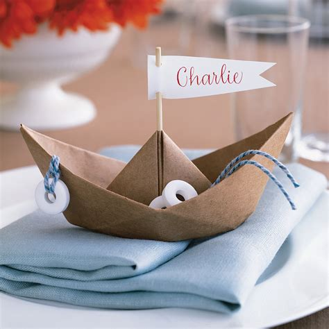 good  paper boat place card martha stewart weddings