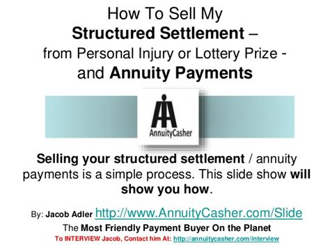 sell my annuity sell my structured settlement payments