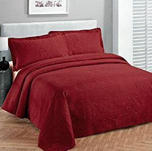 red quilts and coverlets com fancy collection bedspread embossed oversize