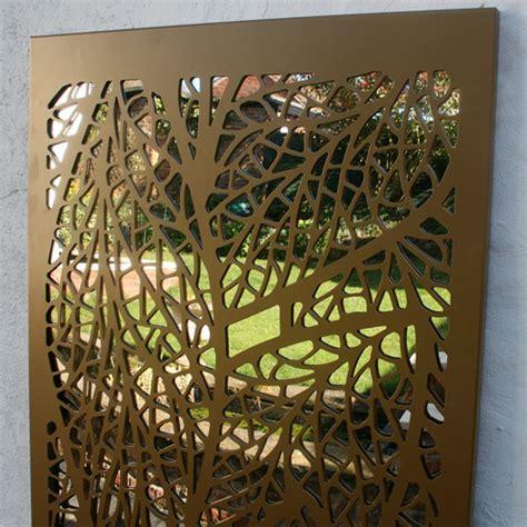 leaf pattern metal screen leaf pattern outdoor garden screen in metallic gold