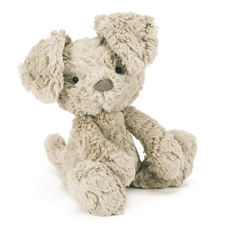 jellycat puppy jellycat sq3pp squiggle puppy with organza pull string bag