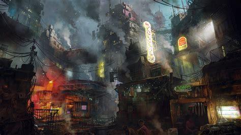 wallpaper futuristic dark future world  art