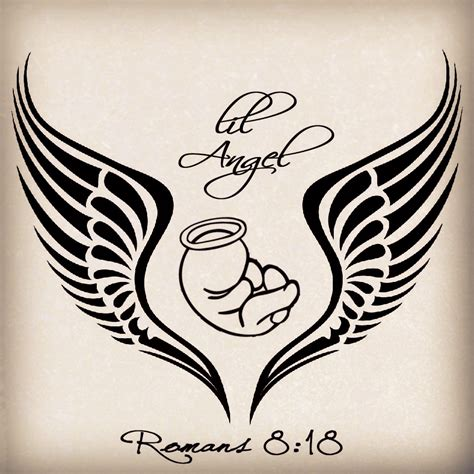 free angel tattoo designs my design for my baby miscarriage