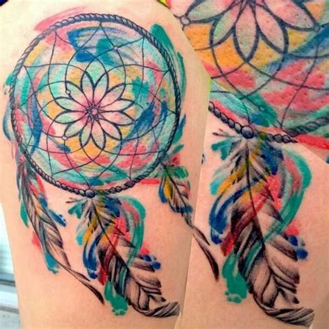 watercolor tattoo dreamcatcher watercolor dreamcatcher adornments