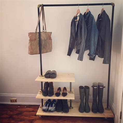 home outfitters shoe rack diy industrial shoe and coat rack inspired by urban