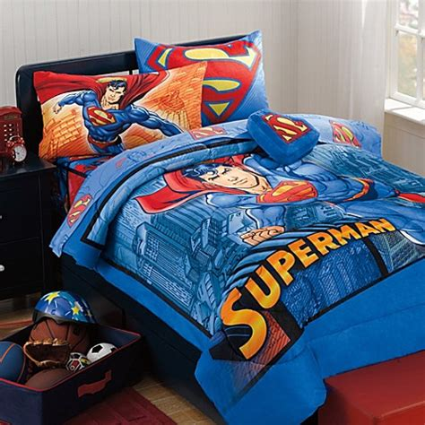 superman bedroom set superman super upper hand bedding set bed bath beyond